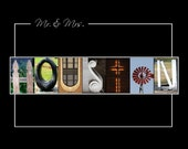Printable Letter Art / Alphabet Architectural Photos Personalized Digital Design Name Signs Anniversary / Wedding / Christmas Gift