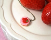 Sweet Treat Strawberry Donut Necklace