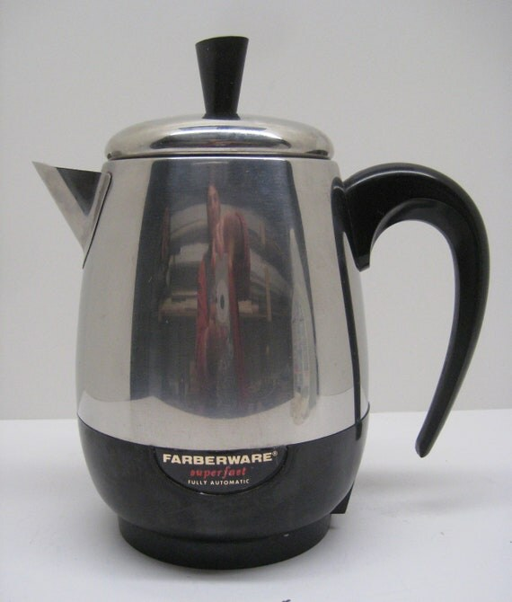 Vintage Farberware 5 Cup Superfast Percolator Model 134b