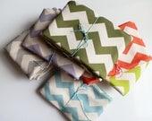 Childrens Room, Chevron Throw Blanket, Organic Summer Kids Bedding, Choose ANY Color