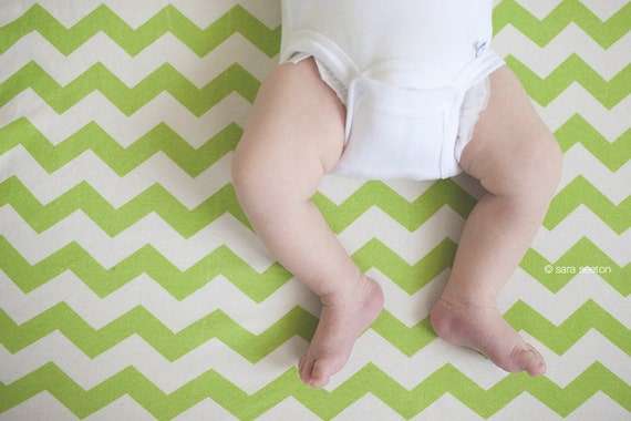 Chevron Baby Blanket, Choose Your Color, Soft Organic Cotton, Holiday Gift For New Baby