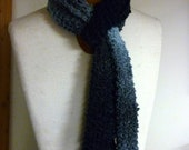 Delicate Knit Scarf, Shades of Blue
