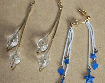 Vintage dangle earrings - 2 pairs