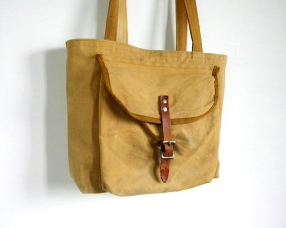 Recycled Boy Scout Canvas Small Tote Bag
