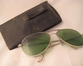 Vintage 1970s Green Tinted Shooting Glasses Hunter S Thompson Style or Team Fortress Sniper