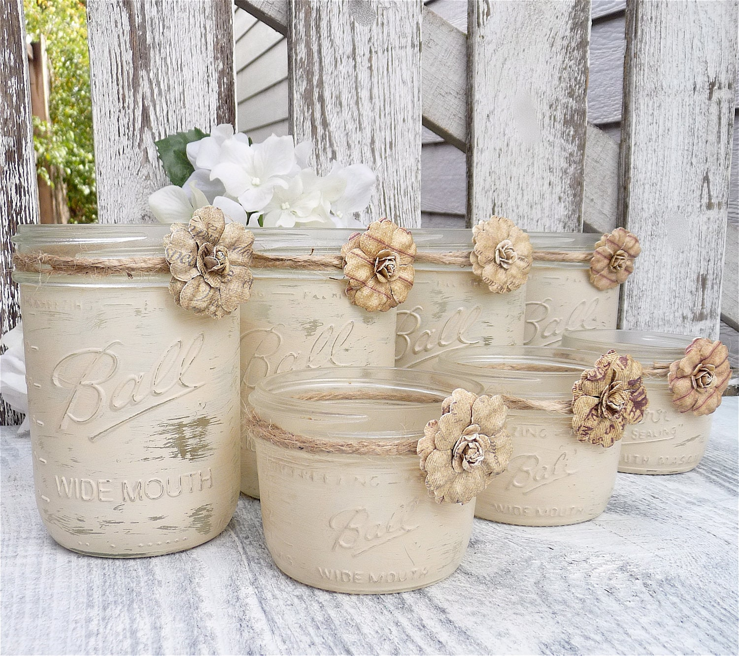 Country Wedding Mason Jars: RUSTIC WEDDING Shabby Chic Upcycled Country By HuckleberryVntg