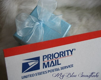 Priority Mail Upgrade for My Blue Snowflake