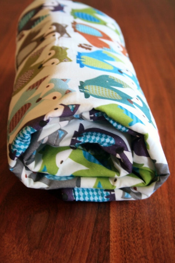 Woodland Eco Friendly Kashmire Baby Travel Blanket - Little Foxes-  READY TO SHIP