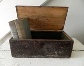 Vintage Dovetail Wooden Wood Box with Handle