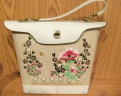 Vintage Woven and Leather Embroidered Purse