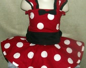 Minnie Mouse Inspired Halloween Costume - Size 12 mo. to 4T