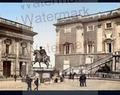Rome , Italy. 4 Vintage Photo Prints. Lithographs. 1890-1910.
