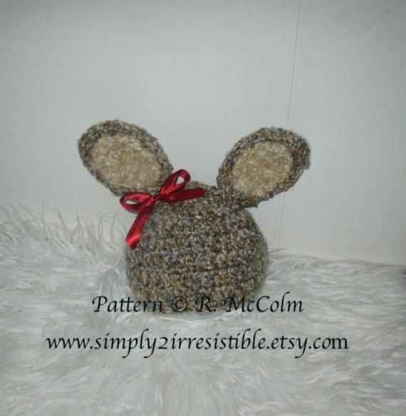 Benjamin Bunny Hat Pattern - Crochet Pattern 36 - Newborn to Adult - INSTANT DOWNLOAD