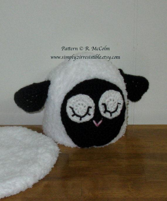 Sleepy Sheep Hat Pattern - Crochet Pattern 34 - Beanie Pattern - Newborn to Adult - INSTANT DOWNLOAD