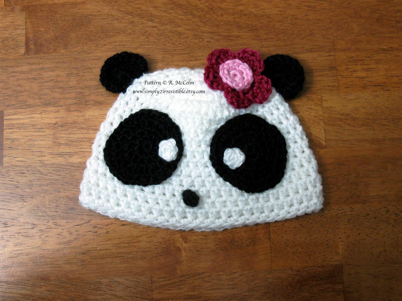 Free Crochet Pattern Panda Bear Hat : Panda Bear Crochet Hat Pattern images