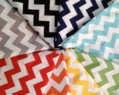 Burp Cloths Set of 3 Colored Cheveron, with white minky