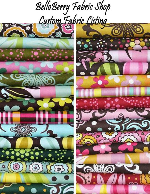 Custom Fabric Listing for Nancy - 9 yards Amy Butler - Midwest Modern Collection - Martini Dots - Mustard