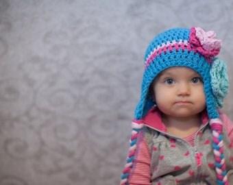 baby hat, little girls hat, baby girl hat, crochet baby hat, kids hat