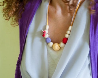 Silk Mama Nursing/Teething Necklace by SimplyaCircle-Breastfeeding Necklace-Mother's day