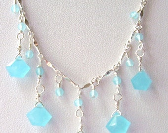 Turquoise Quartz Sterling Silver Necklace