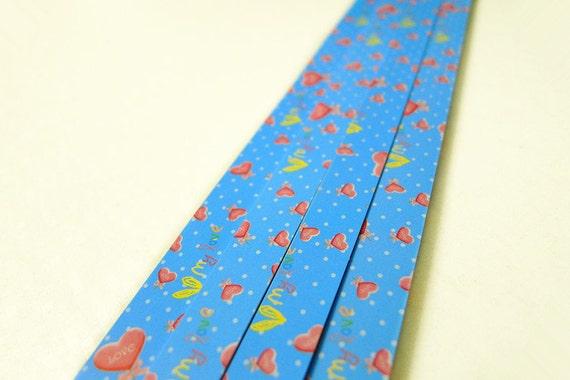 Origami lucky star paper strips little sweet heart star for Lucky star folding