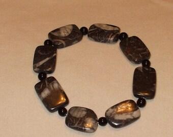 Zebra Jasper stretch bracelet