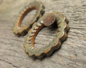 Steampunk cowgirl Set Rustic Connector Rings Focal Beads