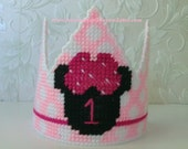 Customize. Minnie Mouse Birthday . Minnie Mouse . First Birthday Hat . Baby Girl Birthday Party Hat . Pink Polka Dot