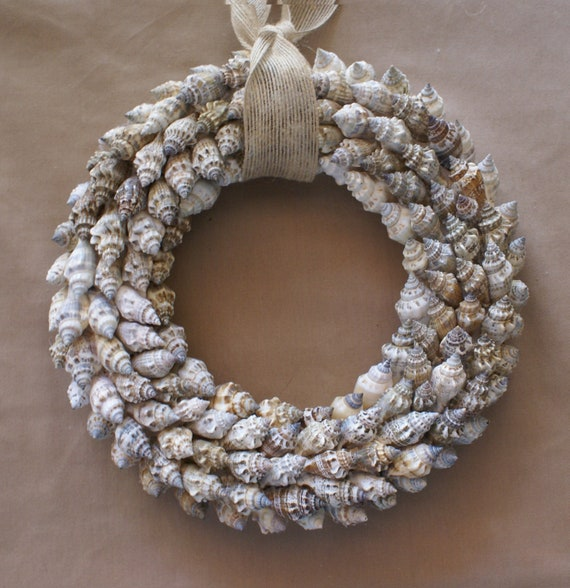 Beach Wreath 10 Inch Seashell Wreath Coastal Decor Blue