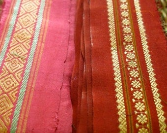 Silk Ribbon,Sari border,Sari Trim 2 colors, SR53