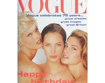 Vogue Magazine - UK June 1991, special collectors 75 year diamond jubilee edition