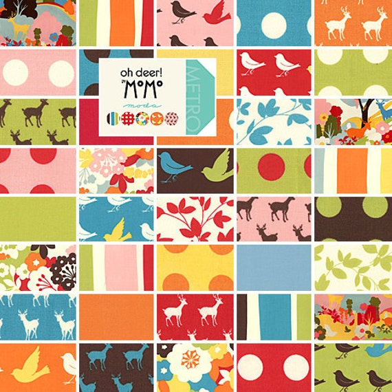 """Oh Deer by Momo for Moda Charm Pack - 42 5"""" Squares - Entire Line"""