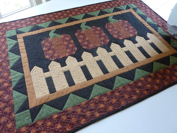 Fall  Table runners Quilted table  Runner quilted Pumpkins etsy