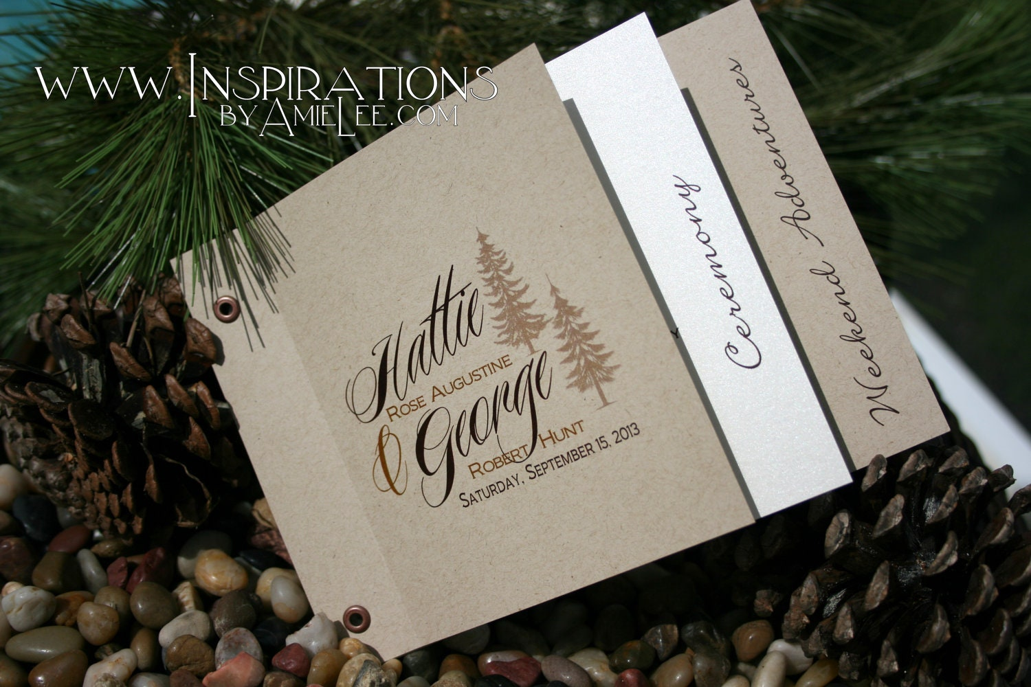 wedding invitations booklet style