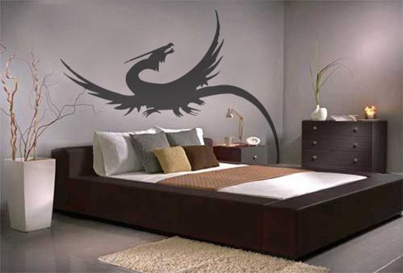 Long tail dragon wall decals stickers for Dragon bedroom ideas