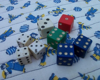 Lot of Dice Pair of Blue Triple of Ivory and Three Odds Gamers Heads Up Free Shipping