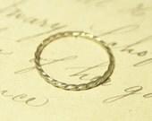 9ct Gold Twist Skinny Stacking Ring