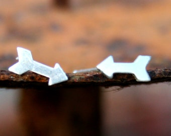 Sterling Silver Post Earrings - Arrows