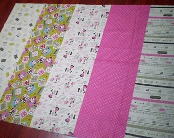 LF112 - Linen Cotton Blended Fabric - Sewing - pink  - 1/2  yard
