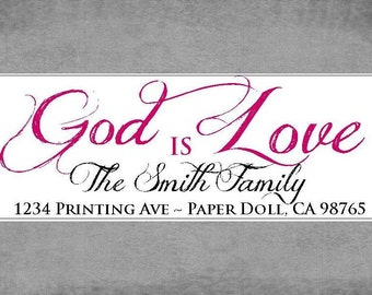 Return Address Labels - God is Love - Script
