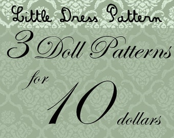 Great Deal - Buy 3 PDF Doll Pattens for 10 Dollars