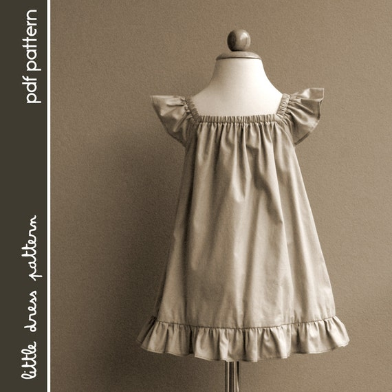 Lauren dress pdf pattern size 12 months to 8 years old and