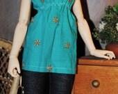 Slim Mini/MSD Slip-on Dress - Turquoise