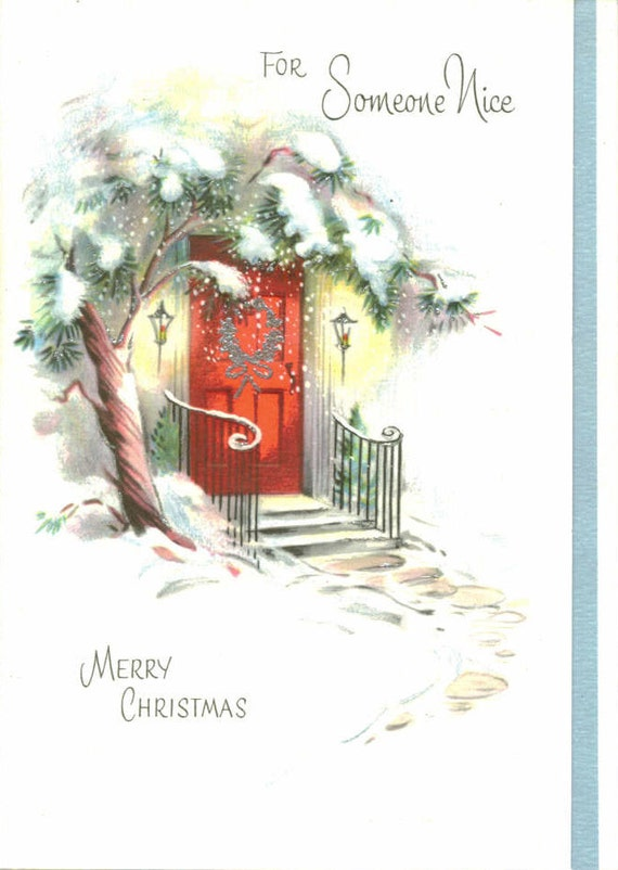 Vintage Gibson Christmas Card, Unused, For Someone Nice