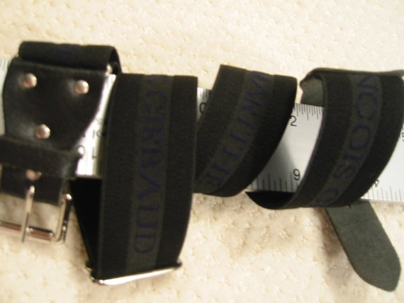vintage  elastic and leather 'Marithe & Francois Girbaud'  belt