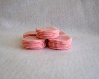 60 Pre Cut Felt Circles - 3 inches - Baby Pink