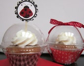 Cupcake Container ~ Cupcake Box ~ Candy Container ~ Plastic Favor Container ~ Set of 24