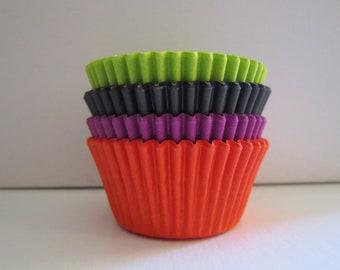 Assorted Baking Liners - Lime Green Black Purple Orange - Standard or Mini
