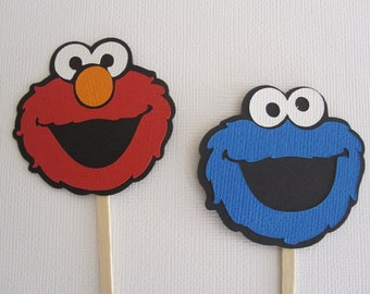12 Sesame Street Cupcake Toppers