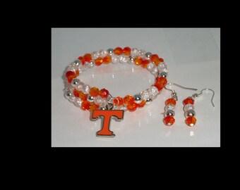 Tn Vols Bracelet and Earring Set